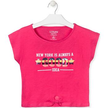 Kleidung Mädchen T-Shirts Losan 014-1025AL Rosa