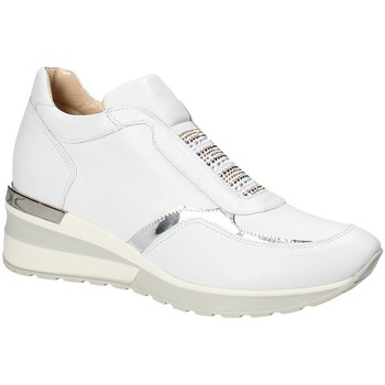 Schuhe Damen Sneaker Low Exton E07 Weiß
