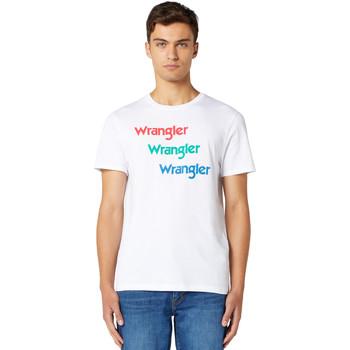 Kleidung Herren T-Shirts Wrangler W7D7D3989 Weiß