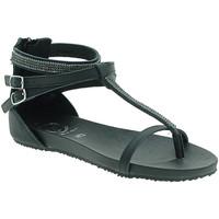 Schuhe Damen Sandalen / Sandaletten 18+ 6110 Schwarz