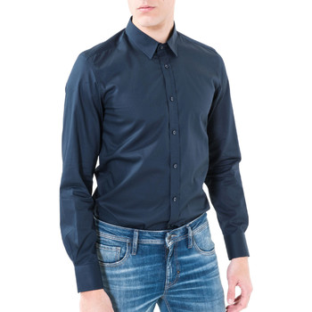 Kleidung Herren Langärmelige Hemden Antony Morato MMSL00362 FA400042 Blau