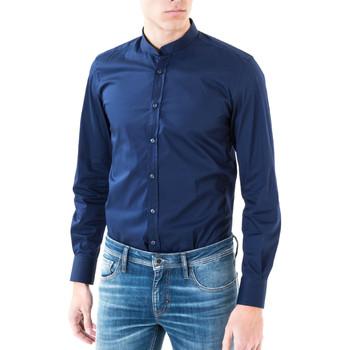Kleidung Herren Langärmelige Hemden Antony Morato MMSL00376 FA450001 Blau