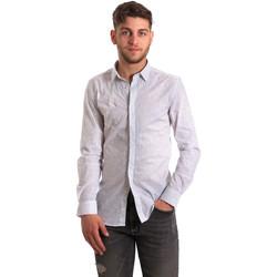 Kleidung Herren Langärmelige Hemden Antony Morato MMSL00428 FA430302 Weiß