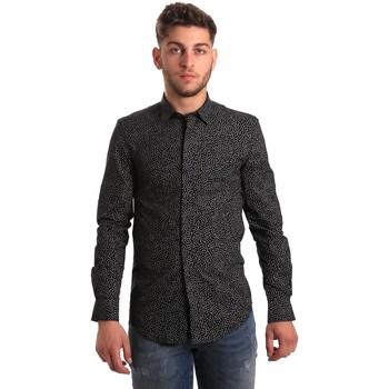 Kleidung Herren Langärmelige Hemden Antony Morato MMSL00428 FA430302 Schwarz