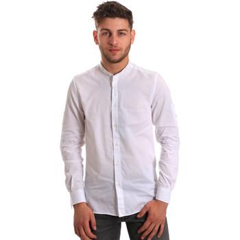 Kleidung Herren Langärmelige Hemden Antony Morato MMSL00429 FA440006 Weiß