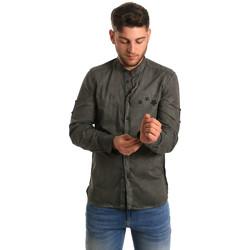 Kleidung Herren Langärmelige Hemden Antony Morato MMSL00452 FA400014 Grün