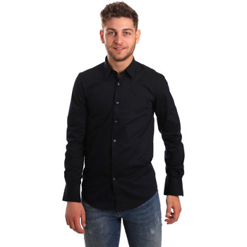 Kleidung Herren Langärmelige Hemden Antony Morato MMSL00472 FA450001 Blau
