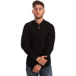 Kleidung Herren Langärmelige Hemden Antony Morato MMSL00472 FA450001 Schwarz