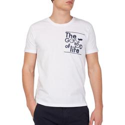 Kleidung Herren T-Shirts Gas 542990 Weiß