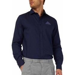 Kleidung Herren Langärmelige Hemden Gas 151131 Blau