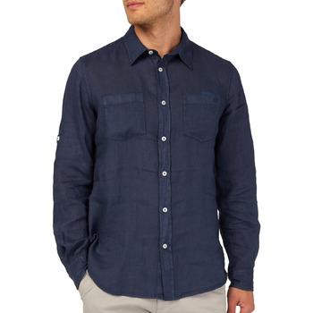 Kleidung Herren Langärmelige Hemden Gas 151150 Blau