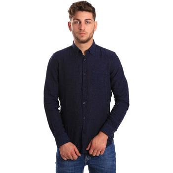 Kleidung Herren Langärmelige Hemden Gas 151200 Blau