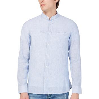 Kleidung Herren Langärmelige Hemden Gas 151228 Blau