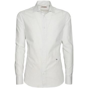 Kleidung Herren Langärmelige Hemden NeroGiardini P873051U Weiß