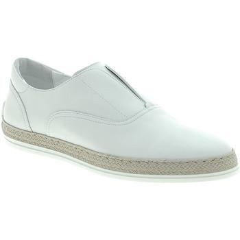 Schuhe Herren Leinen-Pantoletten mit gefloch Triver Flight 997-02 Weiß