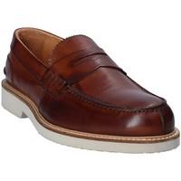 Schuhe Herren Slipper Exton 9102 Braun