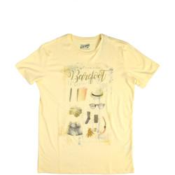 Kleidung Herren T-Shirts Key Up 2G84S 0001 Gelb