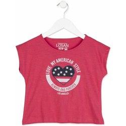 Kleidung Mädchen T-Shirts Losan 814-1023AB Rosa