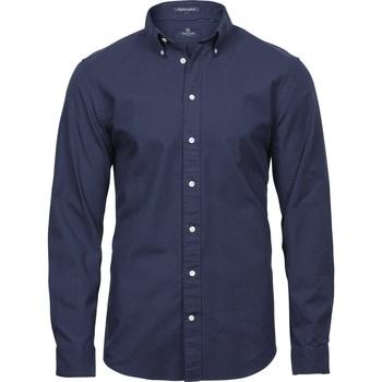 Kleidung Herren Langärmelige Hemden Tee Jays TJ4000 Marineblau