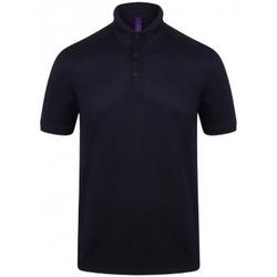 Kleidung Herren Polohemden Henbury HB460 Oxford Marineblau