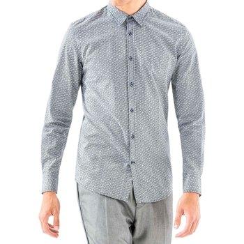 Kleidung Herren Langärmelige Hemden Antony Morato MMSL00501 FA430345 Blau