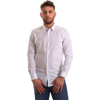 Kleidung Herren Langärmelige Hemden Gaudi 821BU45014 Weiß