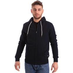 Kleidung Herren Sweatshirts Key Up 2F01I 0001 Blau
