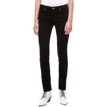 Kleidung Damen Slim Fit Jeans Calvin Klein Jeans J20J208292 Schwarz