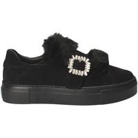 Schuhe Damen Slip on Grunland SC4007 Schwarz