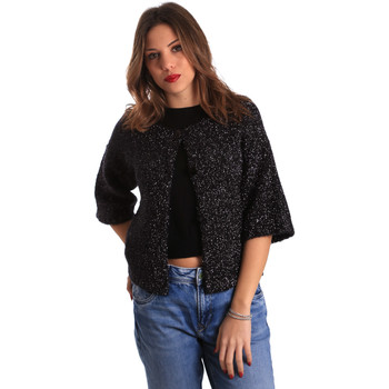 Kleidung Damen Strickjacken Gaudi 821FD53044 Schwarz
