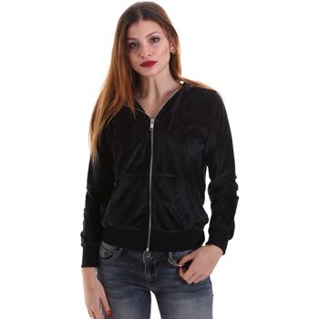 Kleidung Damen Sweatshirts Key Up 5CS57 0001 Schwarz