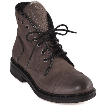 Schuhe Damen Boots Mally 5037 Braun