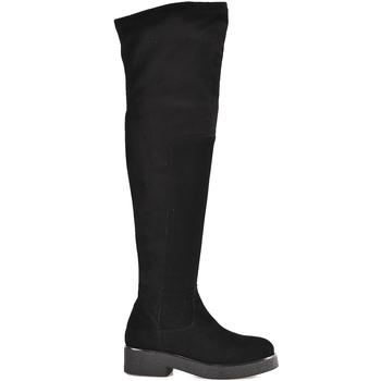 Schuhe Damen Kniestiefel Mally 6311 Schwarz