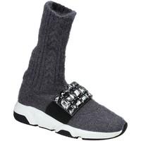 Schuhe Damen Sneaker High Studio Italia BLANCHE 08 Grau
