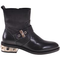 Schuhe Damen Low Boots Elvio Zanon I8405P Schwarz
