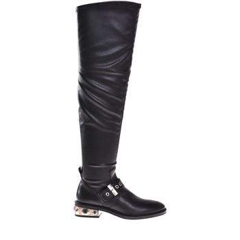 Schuhe Damen Klassische Stiefel Elvio Zanon I8406P Schwarz