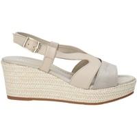 Schuhe Damen Sandalen / Sandaletten Valleverde 32211 Beige