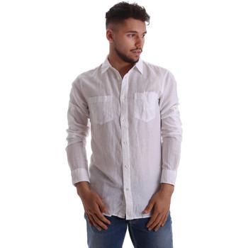 Kleidung Herren Langärmelige Hemden Gas 151150 Weiß