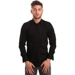 Kleidung Herren Langärmelige Hemden Antony Morato MMSL00375 FA450001 Schwarz