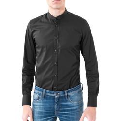 Kleidung Herren Langärmelige Hemden Antony Morato MMSL00376 FA450001 Schwarz