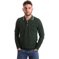 Kleidung Herren Langärmelige Polohemden Key Up 2L711 0001 Grün