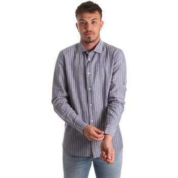 Kleidung Herren Langärmelige Hemden Antony Morato MMSL00520 FA420069 Blau