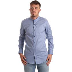 Kleidung Herren Langärmelige Hemden Antony Morato MMSL00526 FA430086 Blau