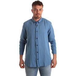 Kleidung Herren Langärmelige Hemden Antony Morato MMSL00530 FA400051 Blau