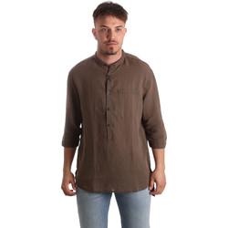 Kleidung Herren Langärmelige Hemden Antony Morato MMSL00531 FA400051 Braun