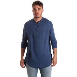 Kleidung Herren Langärmelige Hemden Antony Morato MMSL00531 FA400051 Blau