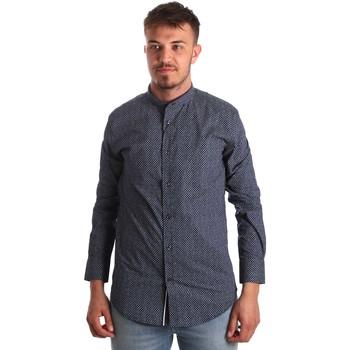 Kleidung Herren Langärmelige Hemden Antony Morato MMSL00532 FA430370 Blau
