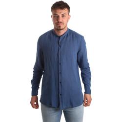 Kleidung Herren Langärmelige Hemden Antony Morato MMSL00547 FA400051 Blau