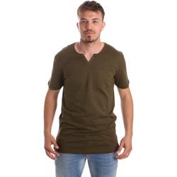 Kleidung Herren T-Shirts Antony Morato MMKS01487 FA100139 Grün