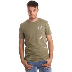 Kleidung Herren T-Shirts Antony Morato MMKS01515 FA100144 Grün